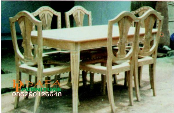 meja kursi makan inlai