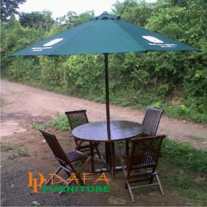 Meja Kursi Set Garden Payung Mewah