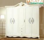 Almari Pakaian Klasik Mewah 5 Pintu