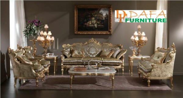 Sofa Ruang Tamu Mewah Ukir Cat Duco