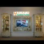 Set Bufet Tv Mewah Ukiran Jepara Terbaru
