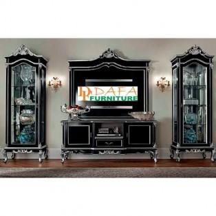 Bufet Tv Mahoni Minimalis Black