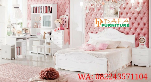 Set Tempat Tidur Anak Ukir Modern