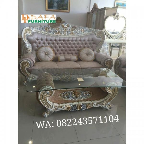 Set Kursi Tamu Sofa mewah Ukiran