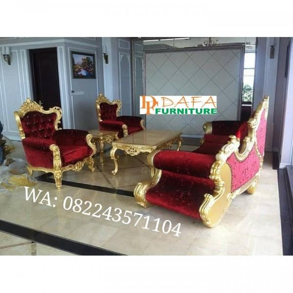 Sofa Tamu Mewah Bunga Mawar