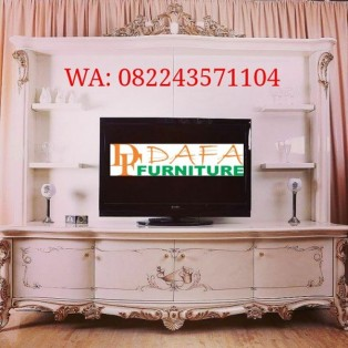 Bufet Tv Mewah Italian Ukir Jepara Terbaru