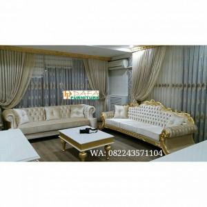 Sofa Tamu Classic Mewah Jepara Terbaru