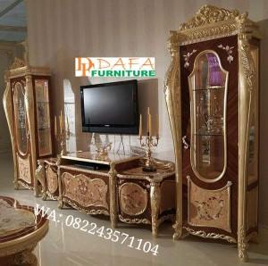 Bufet Tv Set Mewah Luxury Kayu Jati