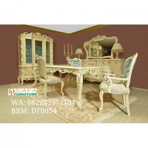 Set meja makan ukiran mewah murah terbaru victorian