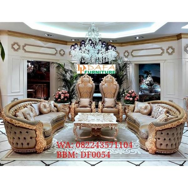 Set Sofa Tamu Mewah Ukir Jepara Terbaru