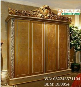 Lemari Pakaian Ukir Gold 4 Pintu