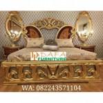 1 Set Kamar Tidur Klasik Mewah Wood Veneer
