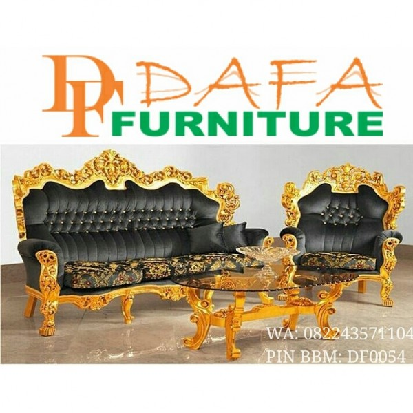 Sofa Mewah Barcelona Model Gold Elegant