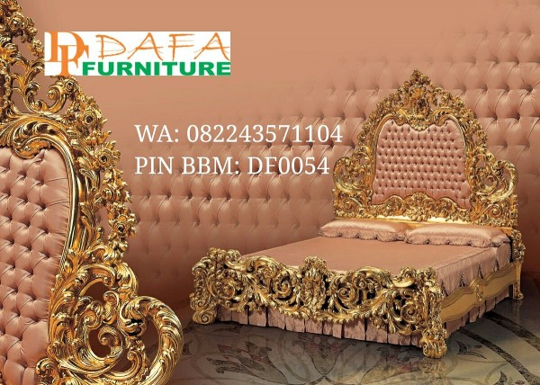 Bed Antique Ukiran Mewah Model Royal