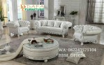 Sofa Modern Model Ukiran Shabby White