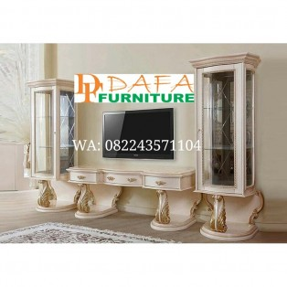 Buffet Tv Set 2 Lemari Hias Ukiran