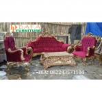 Set Kursi Sofa Ruang Tamu Mewah Kayu Jati Terbaru