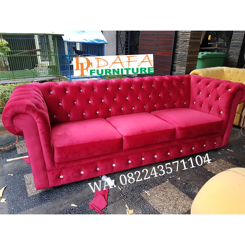 Sofa Tamu Minimalis Mewah 3 Dudukan Terbaru
