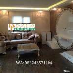 Kursi Sofa Tamu Sudut Modern Ukiran Mewah Terbaru