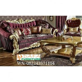 Set Kursi Sofa Tamu Mewah Ukir Jepara Klasik Terbaru
