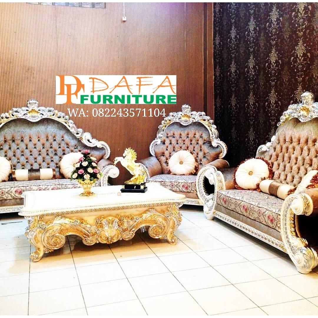 Set Sofa Tamu Mewah Model Jumbo Ukir Jepara Klasik