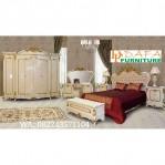 Set Tempat Tidur Jepara Model Eropa Ukiran Klasik Mewah Terbaru