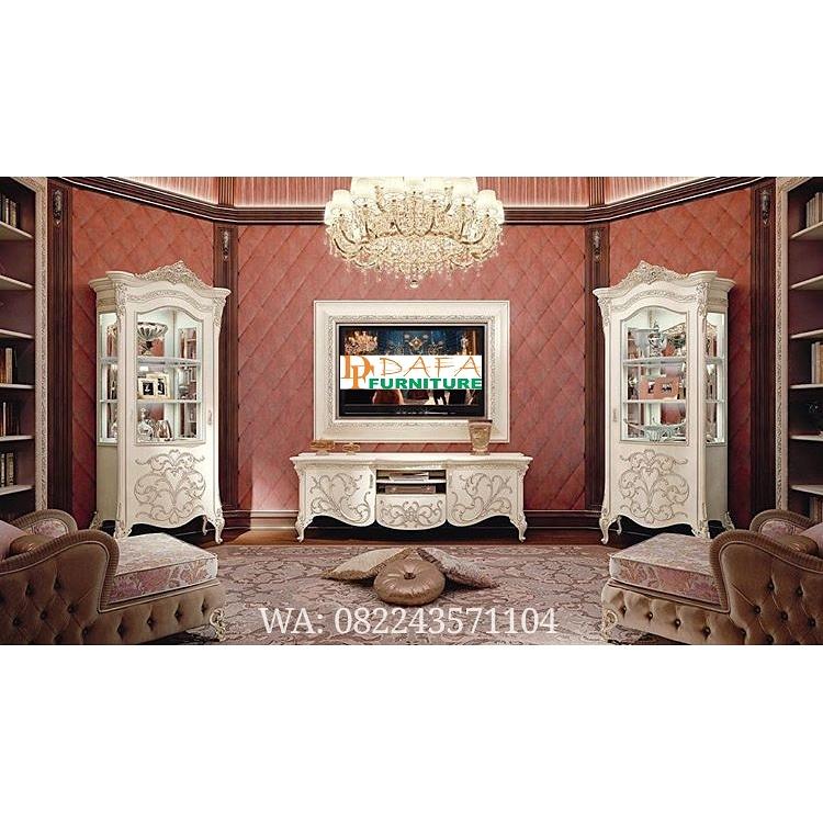 Set Bufet Tv Duco Klasik Ukir Mewah Terbaru