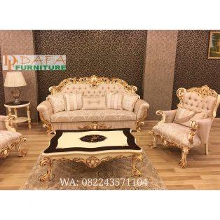 Set Kursi Sofa Tamu Ukiran Klasik Mewah Terbaru