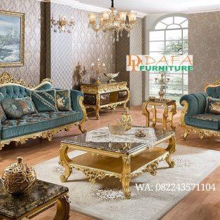 Set Sofa Tamu Mewah Monica Klasik Ukir Jepara Terbaru