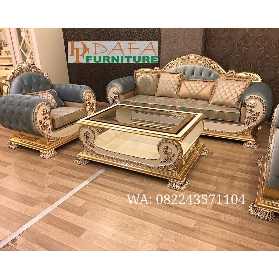 Sofa Ruang Tamu Set Mewah Model Cleopatra Terbaru