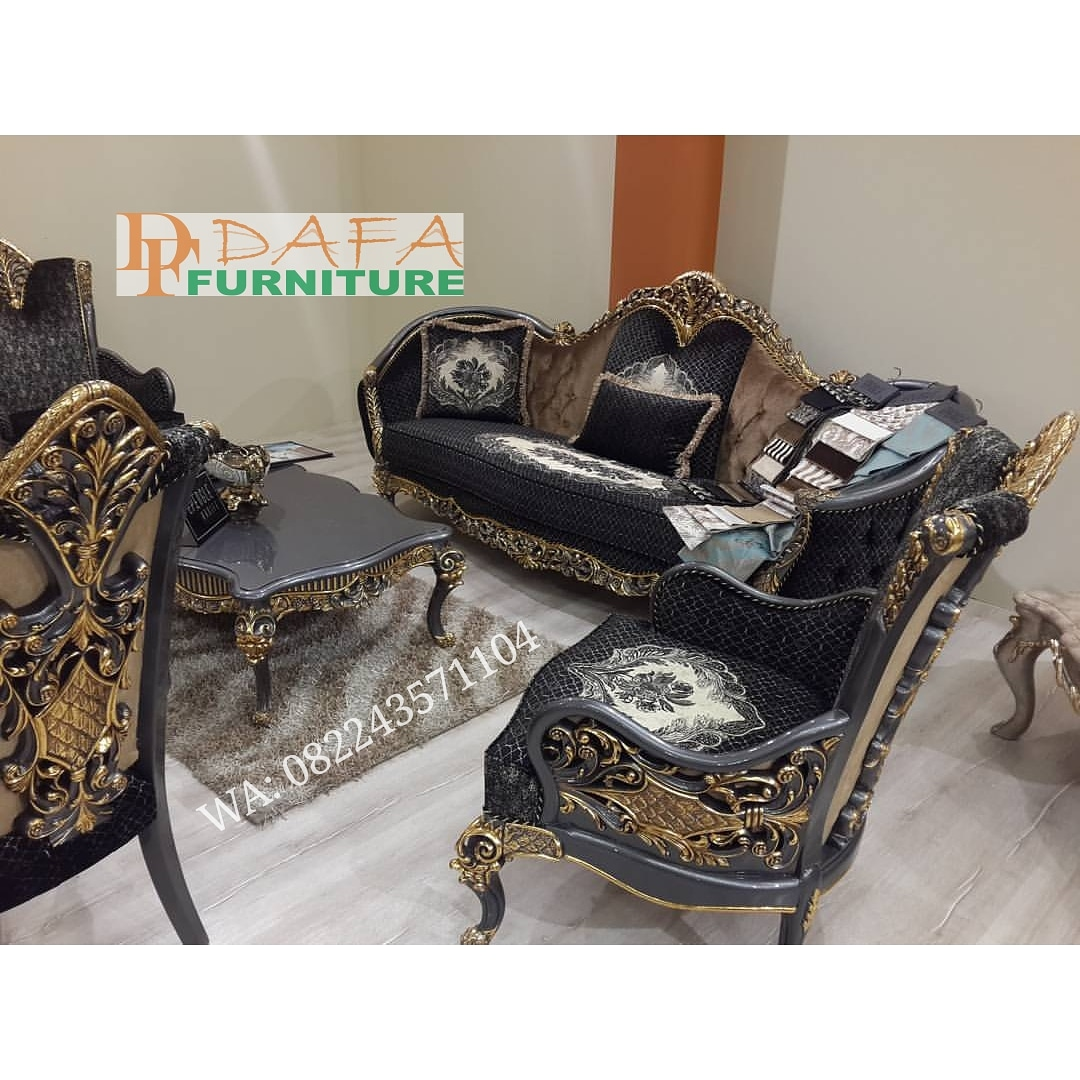Sofa Tamu Ukir Mewah Klasik Terbaru
