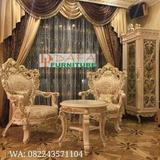 Sofa Teras Ukiran Mewah Klasik Terbaru