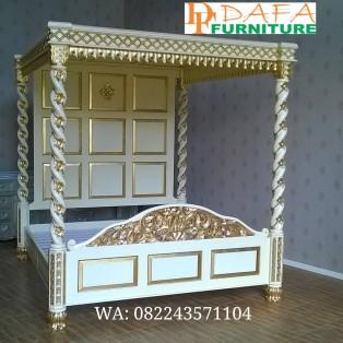 Tempat Tidur Kanopi Klasik Modern Terbaru