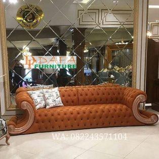 Kursi Sofa Tamu Unique 3 Dudukan Ukir Jepara Terbaru