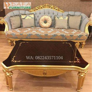 Meja Sofa Tamu Mewah Klasik Model Eropa Terbaru