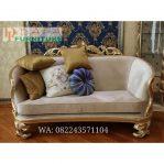 Kursi Sofa Tamu Klasik Modern Duco Emas Terbaru