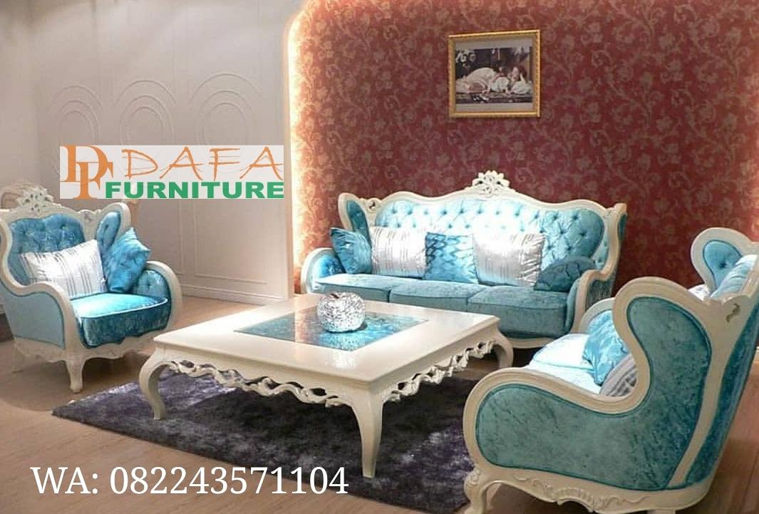 Set Sofa Ruang Tamu Ukir Jepara Mewah Terbaru
