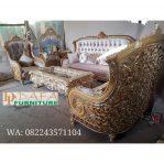 Set Sofa Ruang Tamu Mewah Ukir Jepara Klasik Terbaru