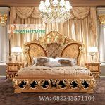 Set Tempat Tidur Mewah ukir Duco Emas Terbaru