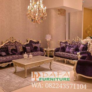 Set Sofa Tamu Mewah Model Eropa Klasik Ukir Jepara Terbaru