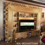 Bufet Tv Mewah Klasik Ukiran Duco Terbaru