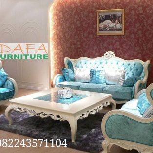 Set Kursi Sofa Tamu Putih Mewah Modern Terbaru