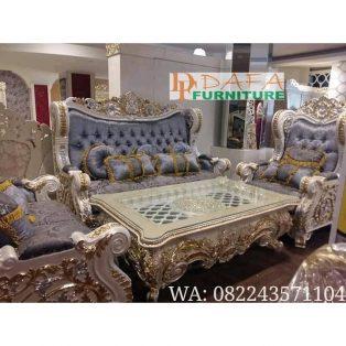 Set Kursi Sofa Tamu Ukiran Mewah Terbaru