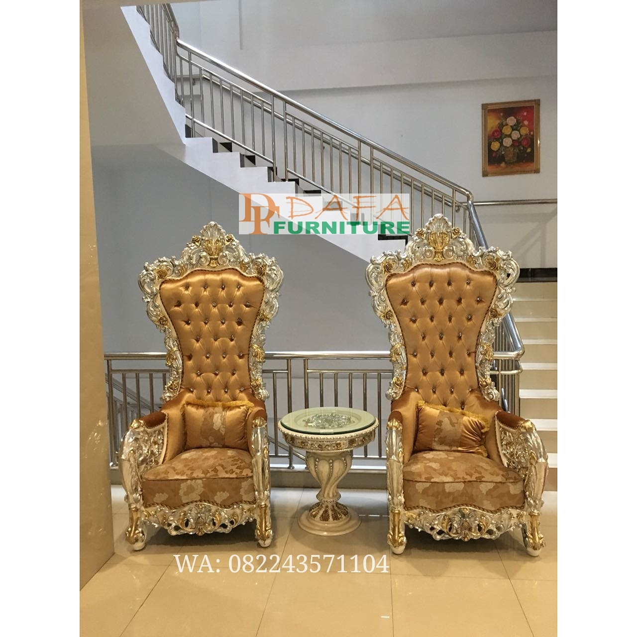 Set Kursi Sofa Teras Ukir Jepara Mewah Terbaru