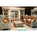 Set Sofa Ruang Tamu Mewah Ukir Duco Terbaru
