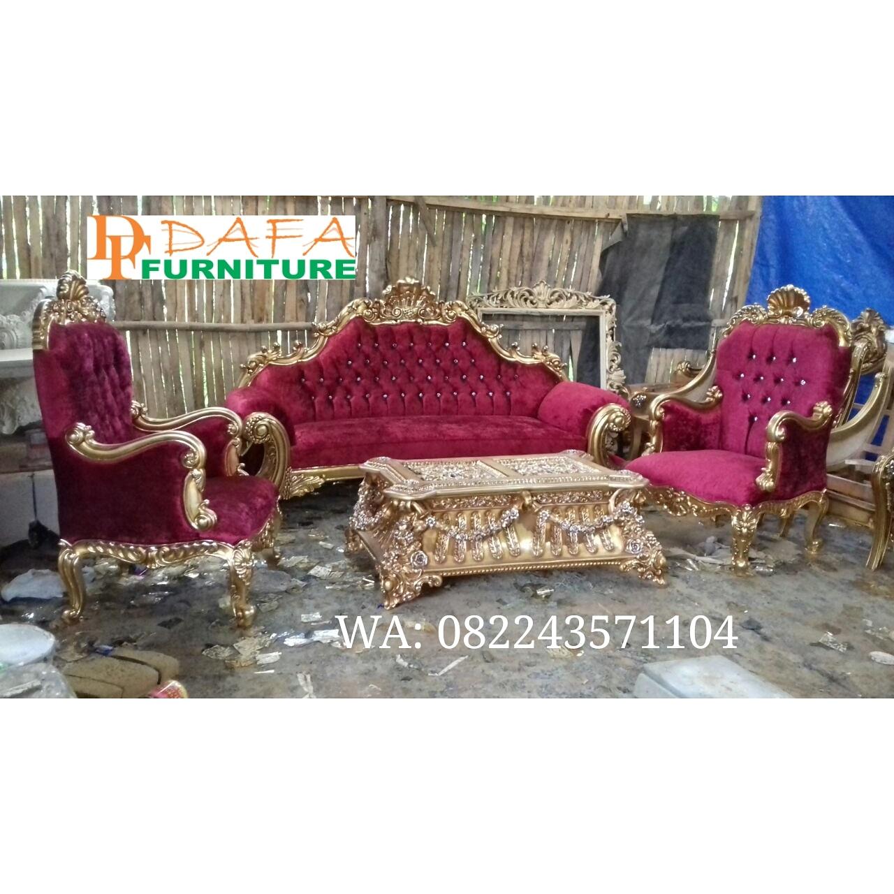 Set Sofa Tamu Ukir Klasik Mewah Terbaru