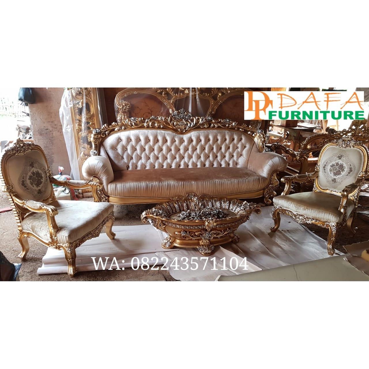 Set Sofa Tamu Ukir Meja Kerang Mewah Terbaru