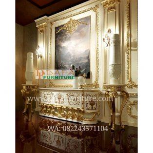 Bufet Tv Ukiran Klasik Emas Mewah Terbaru DFJ-028