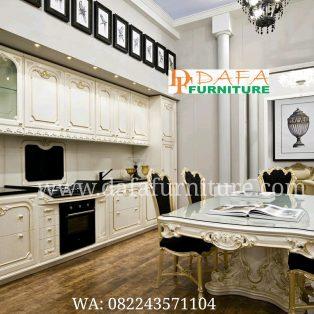 Kitchen Set Minimalis Klasik Putih Mewah Terbaru DFJ-082