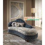 Kursi Sofa Tamu Panjang Motif Bunga Terbaru DFJ-057
